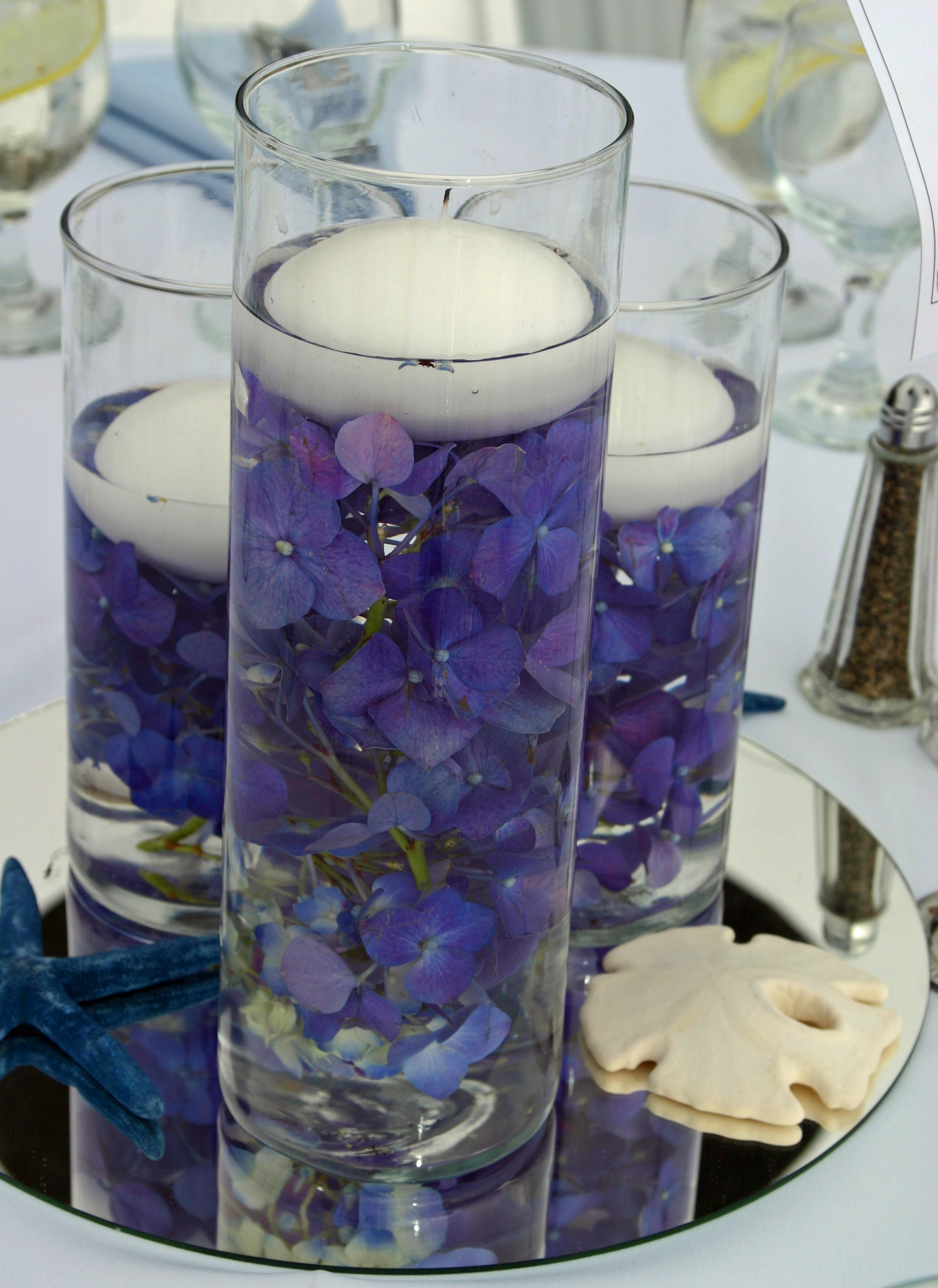 Centerpieces, Candles, Floating