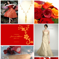 Inspiration, orange, red, gold, Board