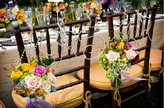 Reception, Flowers & Decor, Decor, yellow, purple, brown, gold, Tables & Seating, Flowers, Chiavari, Chocolate, Chairs, Bear flag farm, Napa, Aubrey aaron, French wedding