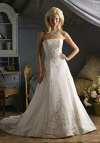 Wedding Dresses, Fashion, ivory, dress, Gown, Wedding, Strapless, Strapless Wedding Dresses, Beaded, Wu, Christina