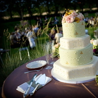 Cakes, white, purple, green, gold, cake, Round, Bear flag farm, Napa, Aubrey aaron, French wedding, Hexagonal