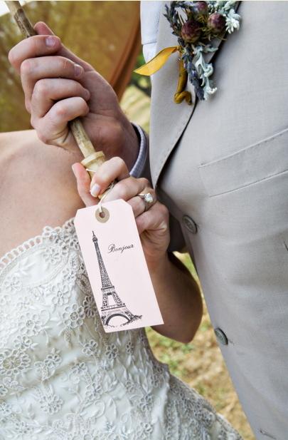 Ceremony, Flowers & Decor, Favors & Gifts, purple, gold, Favors, Theme, Parasols, Bear flag farm, French, Napa, Aubrey aaron, French wedding, Bonjour
