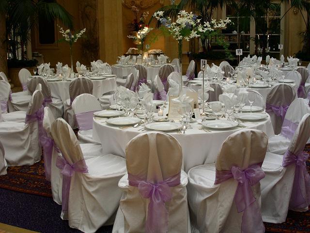 Flowers & Decor, Decor, Chair, Linens, Rentals, Covers, Sashes, Chair covers sashes by party pros, Chair cover