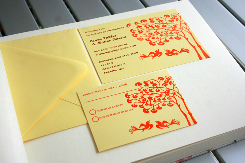 Stationery, Invitations, Reply Cards, Cards, Wedding, Gocco, Print, Screen, Save the date cards, Inks, Illustrations, Flat cards