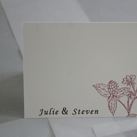 Stationery, Invitations, Cards, Wedding, Thank you cards, Gocco, Print, Screen, Inks, Illustrations, Flat cards