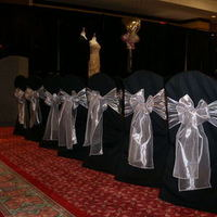 Flowers & Decor, Decor, Chair, Linens, Rentals, Covers, Sashes, Chair covers sashes by party pros, Chair cover