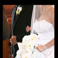 Bouquet, dress, Ceremony, Strapless, Flower, Orchid, Ballgown, Anne, Barge, Flowers & Decor, Fashion, Wedding Dresses, Ball Gown Wedding Dresses, Strapless Wedding Dresses