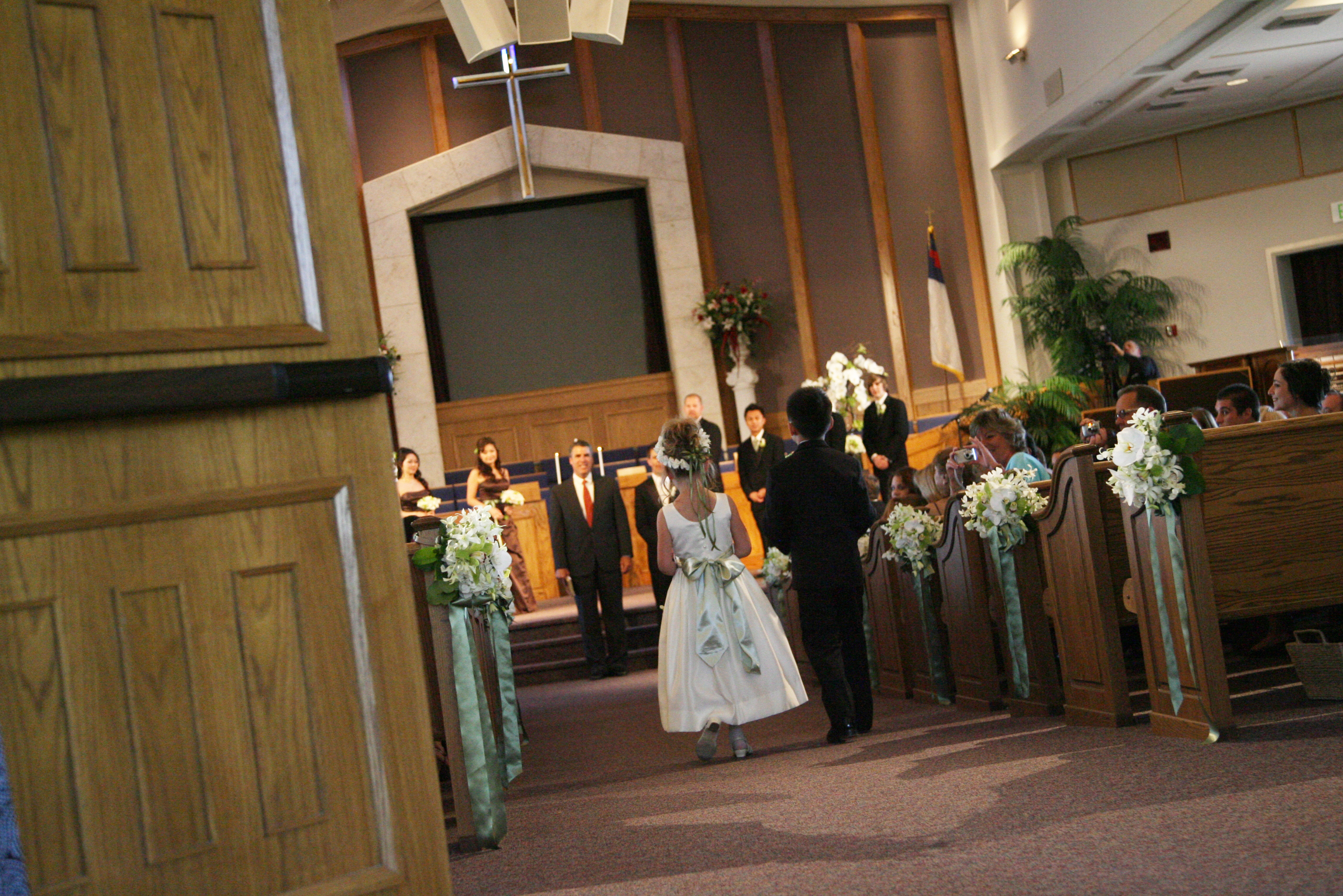 Ceremony, Flowers & Decor, Decor, green, brown, Ceremony Flowers, Flowers, Flower, Girl, Orchid