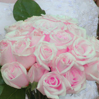 DIY, pink, Roses, Bouquet, Bridal, Hand, Tied
