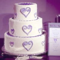 Cakes, white, purple, cake, Ribbon Wedding Cakes, Ribbon, Hearts, Vellum
