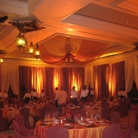 Reception, Flowers & Decor, red, Centerpieces, Hotel, Chair, Covers, Ballroom, Tealight weddings events