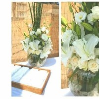 Reception, Flowers & Decor, white, green, Beach, Spring, Flowers, Beach Wedding Flowers & Decor, Roses, Lilies, Rose, Events, La, Lily, Monica, santa, Club, Coral, Partie, Florist, Jonathan