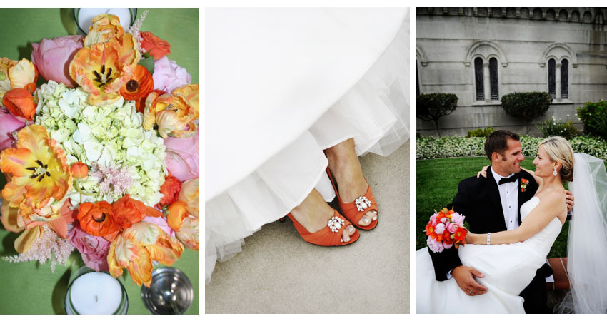 Flowers & Decor, Wedding Dresses, Shoes, Photography, Fashion, orange, pink, green, dress, Bride Bouquets, Bride, Flowers, Bouquet, Bridal, Peach, Shoe, Florals, Clip, Flower Wedding Dresses