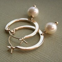 Jewelry, white, yellow, gold, Earrings, Bride, Bridesmaid, Bridal, Pearl, K garner designs