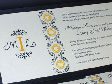 Stationery, Modern Wedding Invitations, Invitations, Monogram, Wedding, Custom, Thermography, Njoidesigns