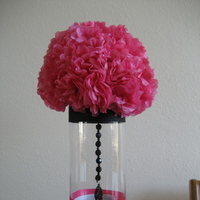 Flowers & Decor, white, black, Flowers, Vase, Damask, Fucshia