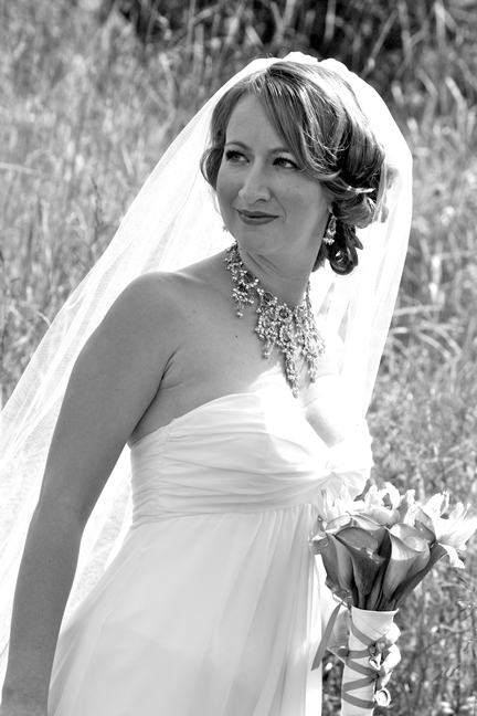 white, black, Bride, Portrait, Of, Bridal, And, Photo