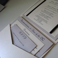 Stationery, silver, invitation, Invitations, Cream, Navy
