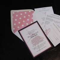 Stationery, pink, invitation, Invitations, Couture, Invite, Haute papier