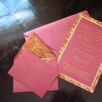 Stationery, Paper, gold, invitation, Invitations, Thermography, Couture, Invite, Haute papier