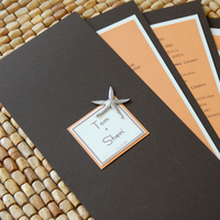 Stationery, orange, brown, invitation, Invitations, Cream