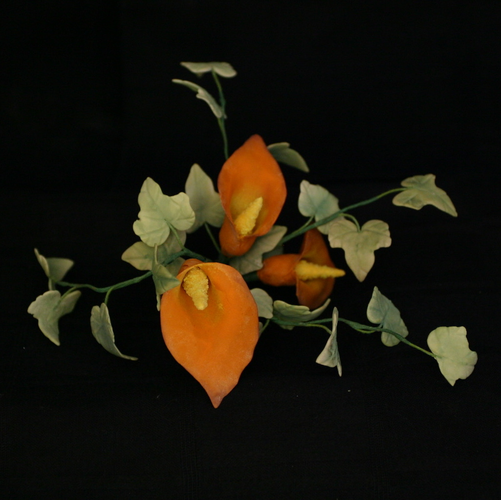 Flowers & Decor, Cakes, cake, Flower, Wedding, Calla, Lilies, Lily, Top, Sugar, Ivy, Sugar flower shop