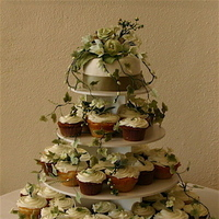 Cakes, cake, Wedding, Cupcake, Hydrangea, Freesia, Ivy, Sugar flower shop