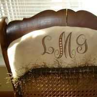 Monogram, Cover, Keepsake, Twisted sisters stitchery, Personalize, Hanger