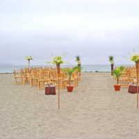 Ceremony, Flowers & Decor, Beach, Ceremony Flowers, Flowers, Beach Wedding Flowers & Decor, Wedding, Tropical, At, Bodega