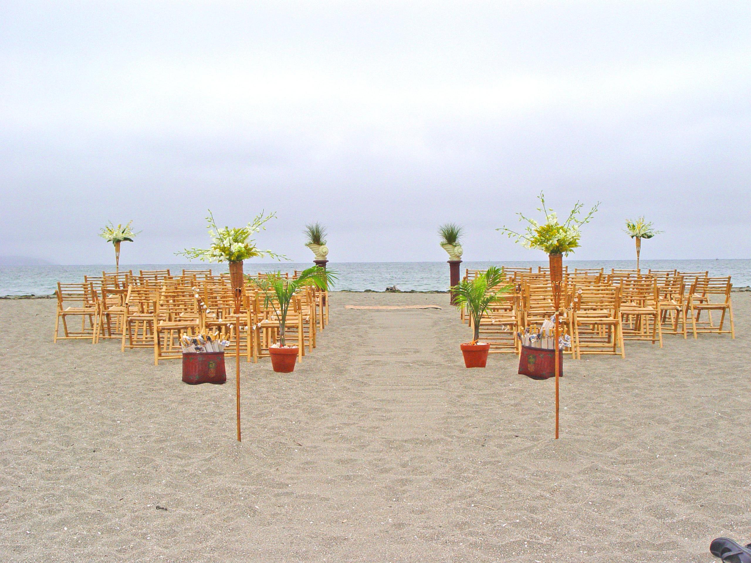 Ceremony, Flowers & Decor, Beach, Ceremony Flowers, Flowers, Beach Wedding Flowers & Decor, Wedding, Tropical, At, Bodega