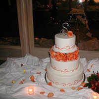 Cakes, orange, cake, Wedding, Swirl