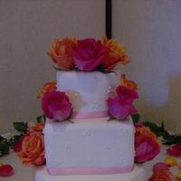 Cakes, orange, pink, cake, And, Blairs custom cakes