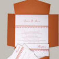 Stationery, orange, invitation, Square, Invitations, Theme