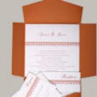 Stationery, orange, invitation, Square, Invitations, Theme