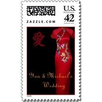 Wedding Dresses, Traditional Wedding Dresses, Fashion, dress, Wedding, Chinese, Traditional, Stamp, Tradition, Postage, Worldofweddingstamps, World of wedding stamps