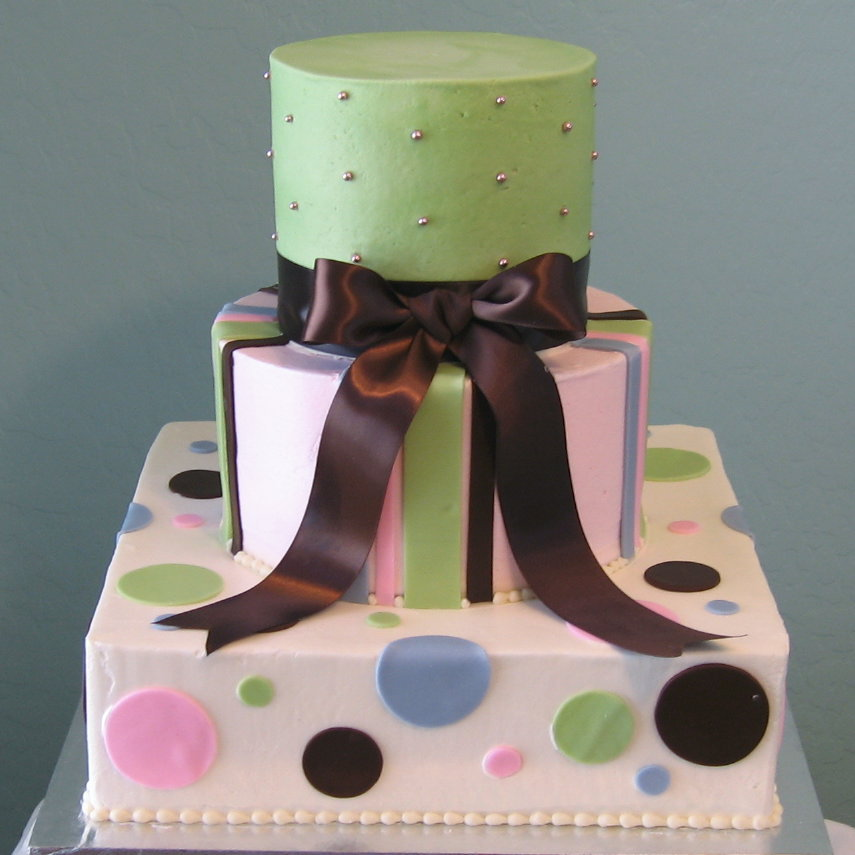 Cakes, pink, blue, green, brown, cake, Square Wedding Cakes, Square, Round, Wedding, Fondant, Buttercream, Stacked, Graceful cake creations