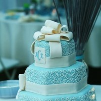Cakes, blue, cake, Monogrammed Wedding Cakes, Monogram, Tiffany