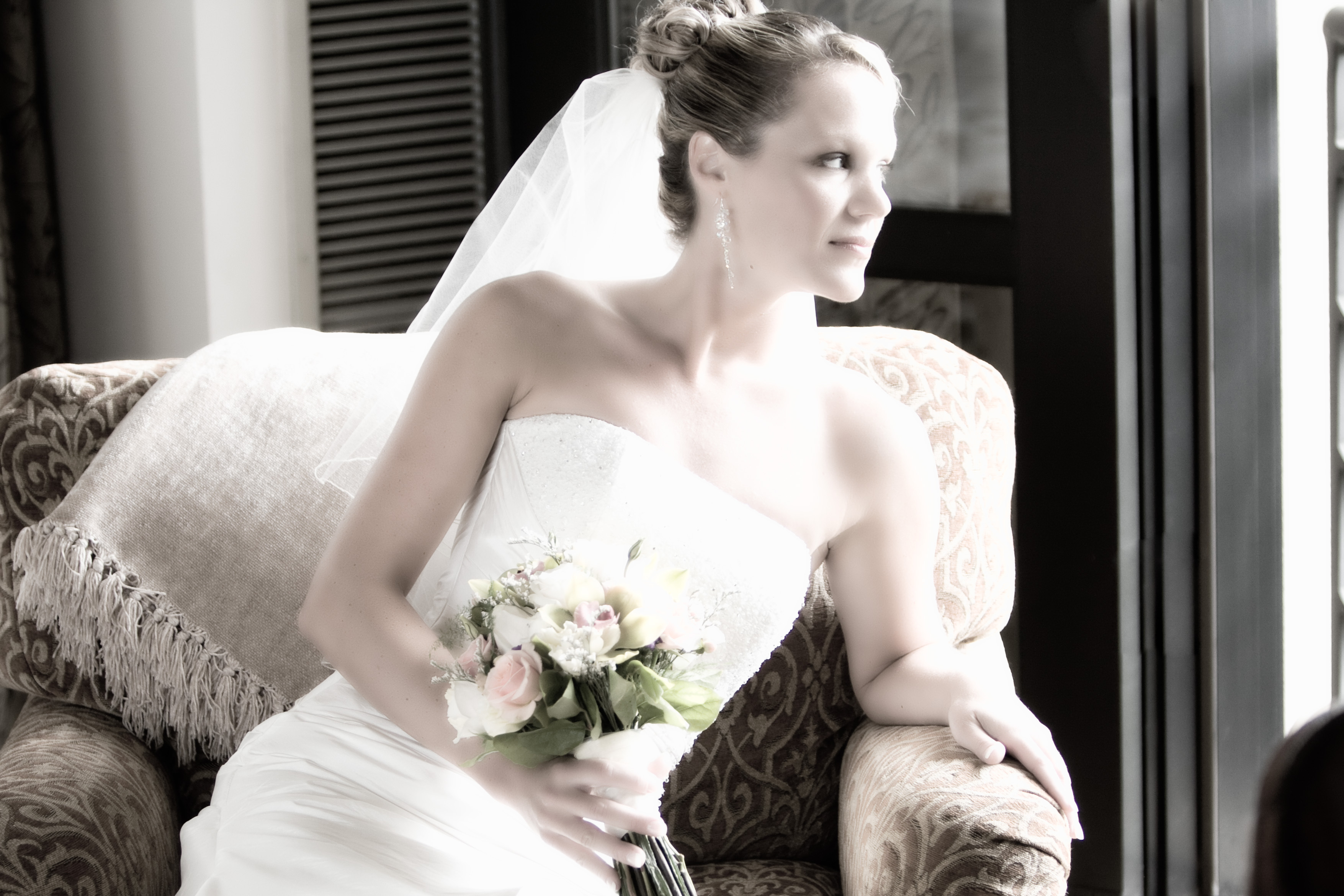 Flowers & Decor, Bride Bouquets, Bride, Flowers, Portrait, Firstlight photography