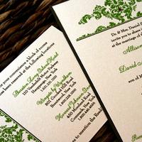 Stationery, Invitations, Damask, Prim pixie