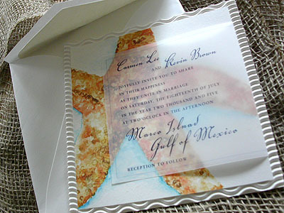 Stationery, Beach, Beach Wedding Invitations, Invitations, Unique, Starfish, Watercolor, Passion paper
