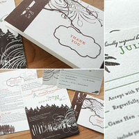 Stationery, green, brown, Invitations, Good on paper design