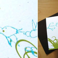 Stationery, blue, green, Invitations, Good on paper design