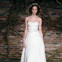 Wedding Dresses, A-line Wedding Dresses, Fashion, dress, Strapless, Strapless Wedding Dresses, A-line, Straps, Spaghetti, Natural, Silk, Monique lhuillier, Waist, Silk Wedding Dresses