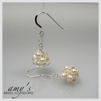 Jewelry, Earrings, Bridal, And, Crystal, Swarovski, Pearl, Amys bridal accessories, Cultured, Cluster