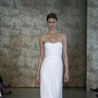 Wedding Dresses, Fashion, white, dress, Sheath, Monique lhuillier, Sheath Wedding Dresses