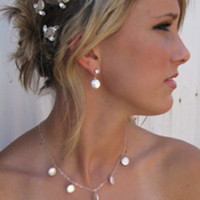 Bridal, Necklace, Pearl, Coin, Amys bridal accessories
