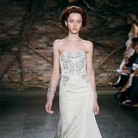 Wedding Dresses, Mermaid Wedding Dresses, Fashion, dress, Mermaid, Strapless, Strapless Wedding Dresses, Natural, Silk, Monique lhuillier, Waist, Silk Wedding Dresses