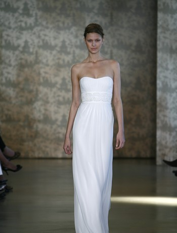 Wedding Dresses, Fashion, white, dress, Sheath, Monique lhuillier, Sheath Wedding Dresses