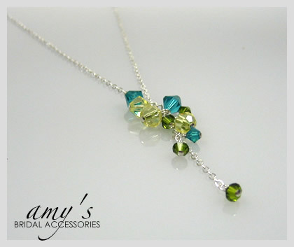 Bridesmaid, Necklace, Cascade, Pendant, Amys bridal accessories