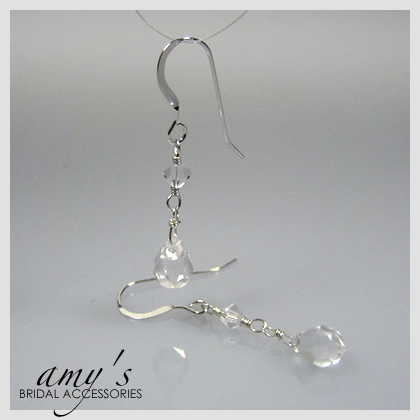 Jewelry, Earrings, Crystal, Drop, Amys bridal accessories